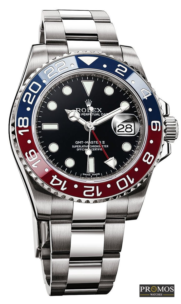 Gmt-Master Ii -Pepsi- Silver Style & Blue-Red Dial -Automatic Movement Watches