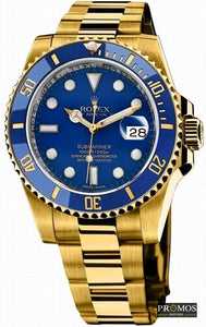 Submariner Gold Style & 2* Colors Dial-Automatic Movement Blue Watches