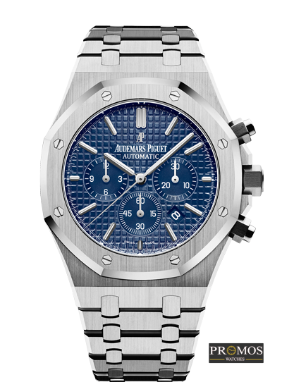 Royal Oak Offshore Silver With Blue Face Watches