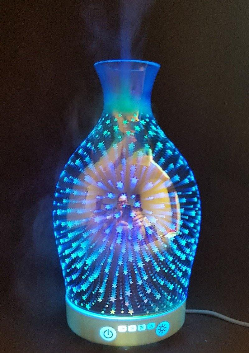 Bem Estar - Difusor E Umidificador 3D Unique Vase - Com LED 7 Cores - 110ml