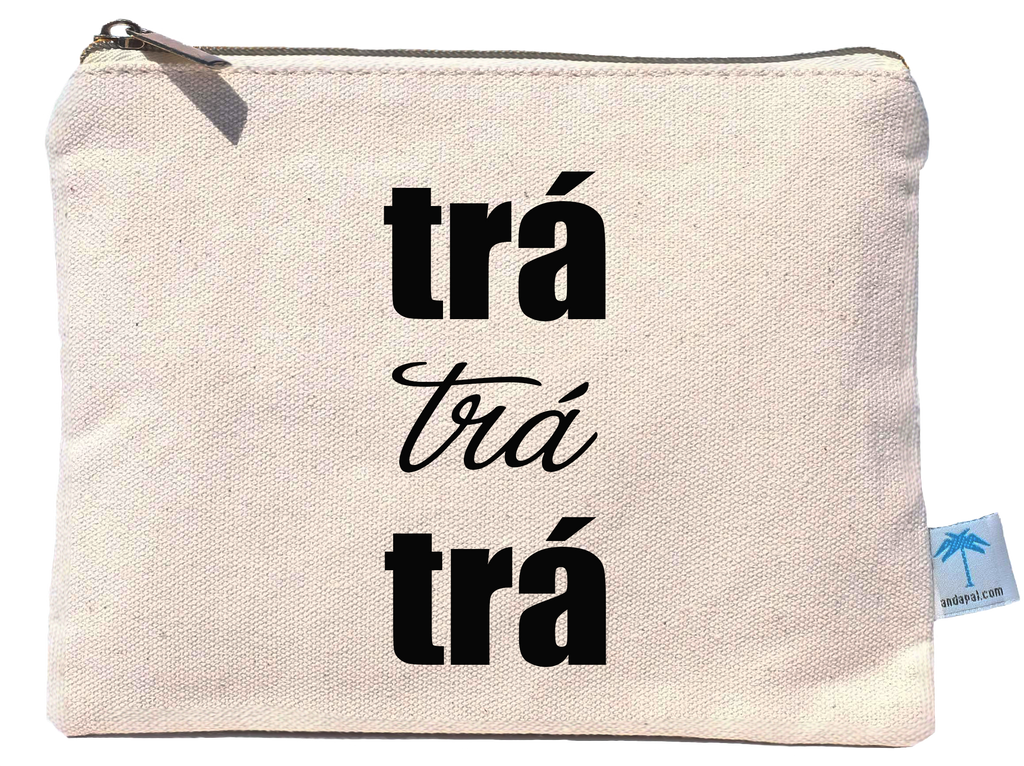 """Trá Trá Trá""canvas pouch bag"