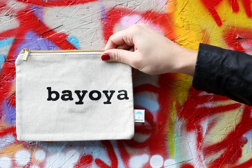 """Bayoya"" canvas pouch bag"
