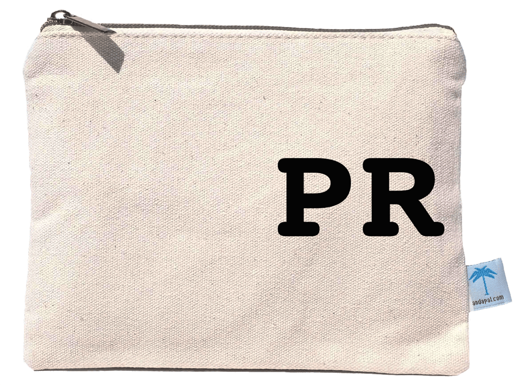 """PR"" canvas pouch bag"