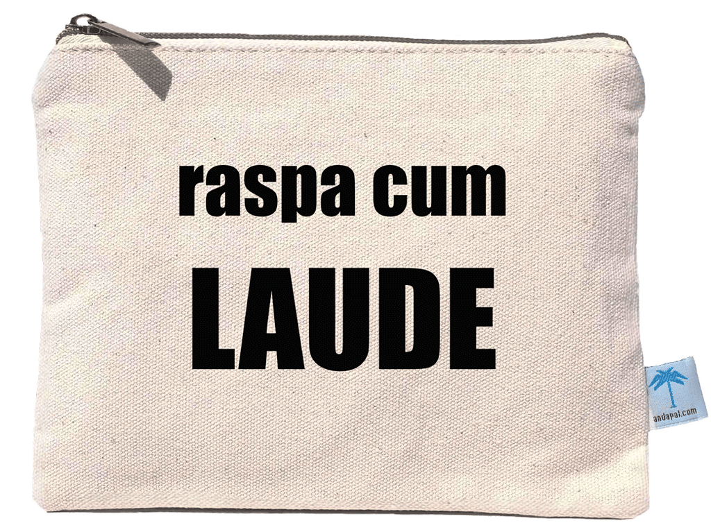 """Raspa Cum Laude"" canvas pouch bag"