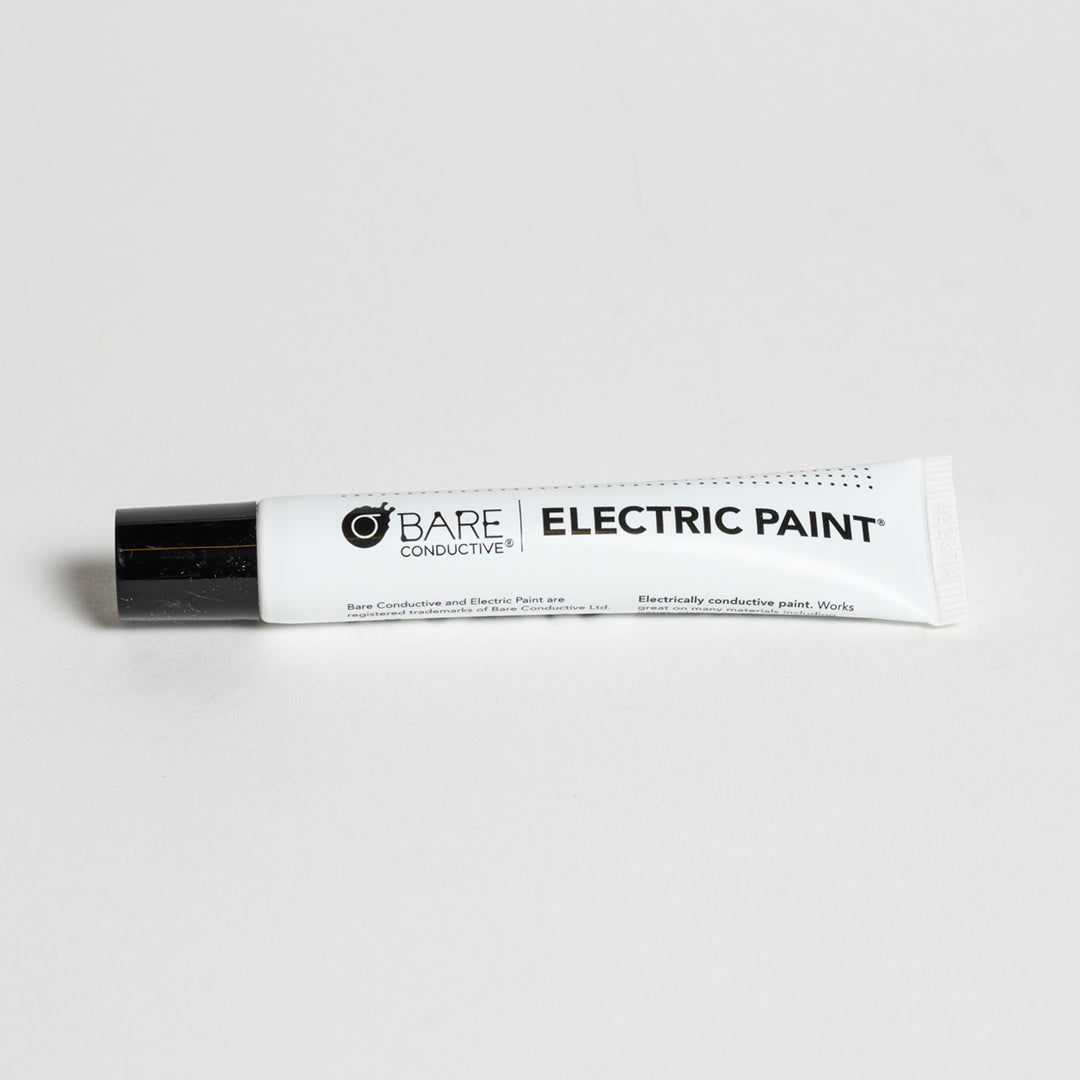 Electric Paint 10ml Tube - Front out of the box view of Bare conductive Electric paint tube