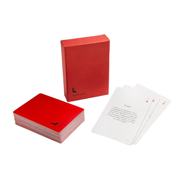 Spy Deck Cards - View of pile of Spy deck cards with red box