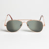 Rear View Aviator Sunglasses - Fron view of Rear view Aviator Sunglasses with black mirror