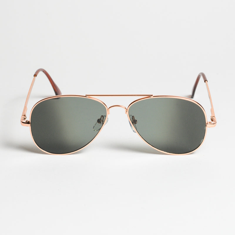 Rear View Aviator Sunglasses - Diagonal view of Rear View Aviator Sunglasses
