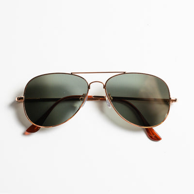 Rear View Aviator Sunglasses - Front view of  Rear view Aviator Glasses with legs closed