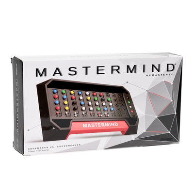 MasterMind - Front of the board game Mastermind Classic board game. Codemaker vs Codebreaker.