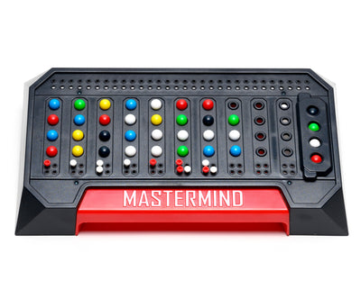 Mastermind game board. Two player game. Codebreaker vs codemaker.