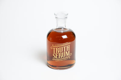 Out of the box filled Truth Serum Bottled up Decanter
