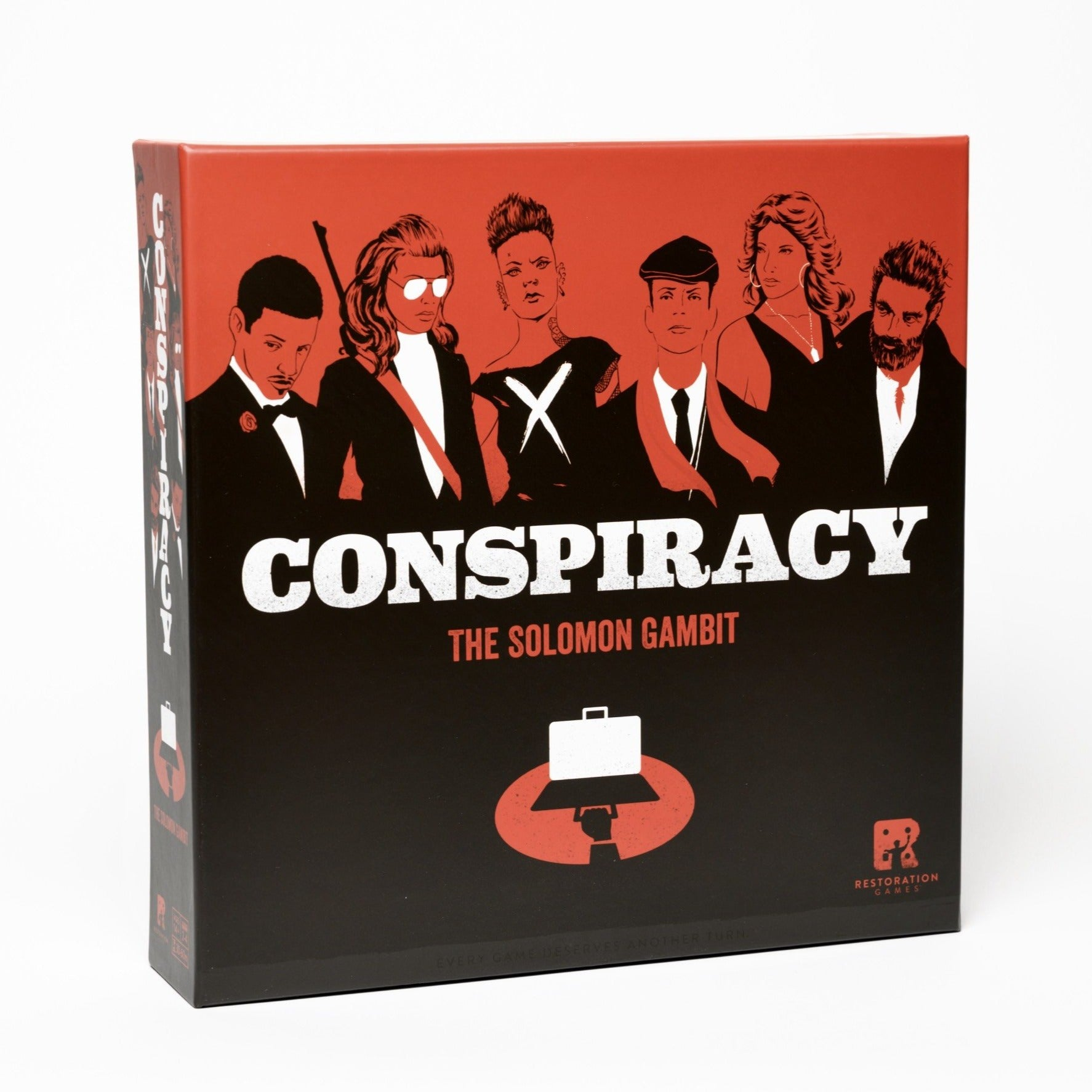 Conspiracy: The Solomon Gambit - Front Cover of board game Conspiracy: The Solomon Gambit