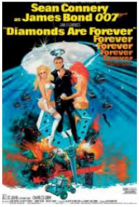 Diamonds are Forever Movie Poster Postcard -