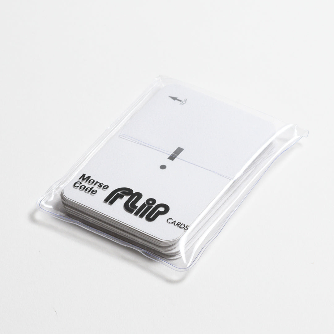 Morse Code Cards - View of Morse Code Cards in transparent pouch