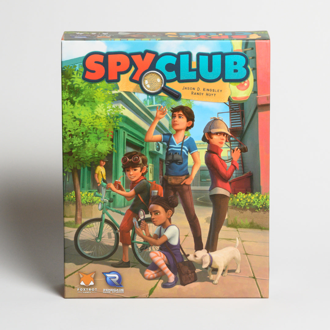 Spy Club - Front of board game Spy Club, Jason D. Kingsley, Randy Hoyt, Foxtrot Game