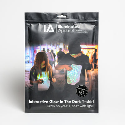 Super Green Glow Black Kids UV - T-shirt (Inc. UV Keyring)