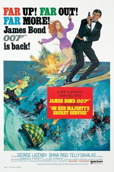 On Her Majesty's Secret Service Movie Poster -