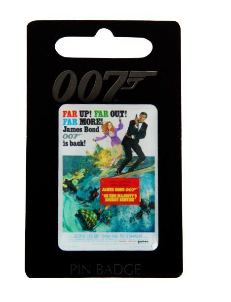 Pin Badge - George Lazenby- On Her Majesty's Secret Service -