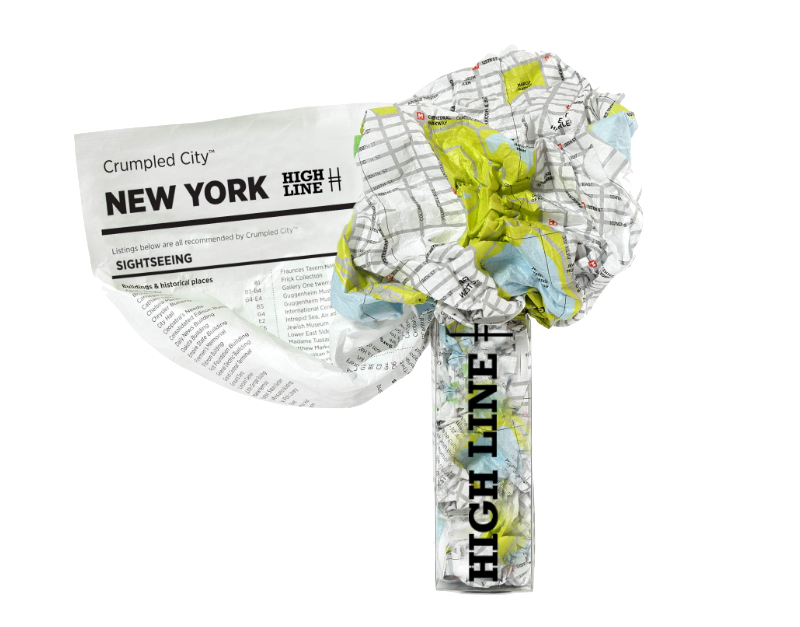 Crumpled City Map - New York City