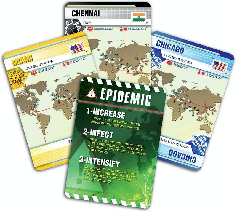 "Pandemic - Front cover of board game Pandemic by Matt Lercock, International award winning game, ""can you save humanity?"""