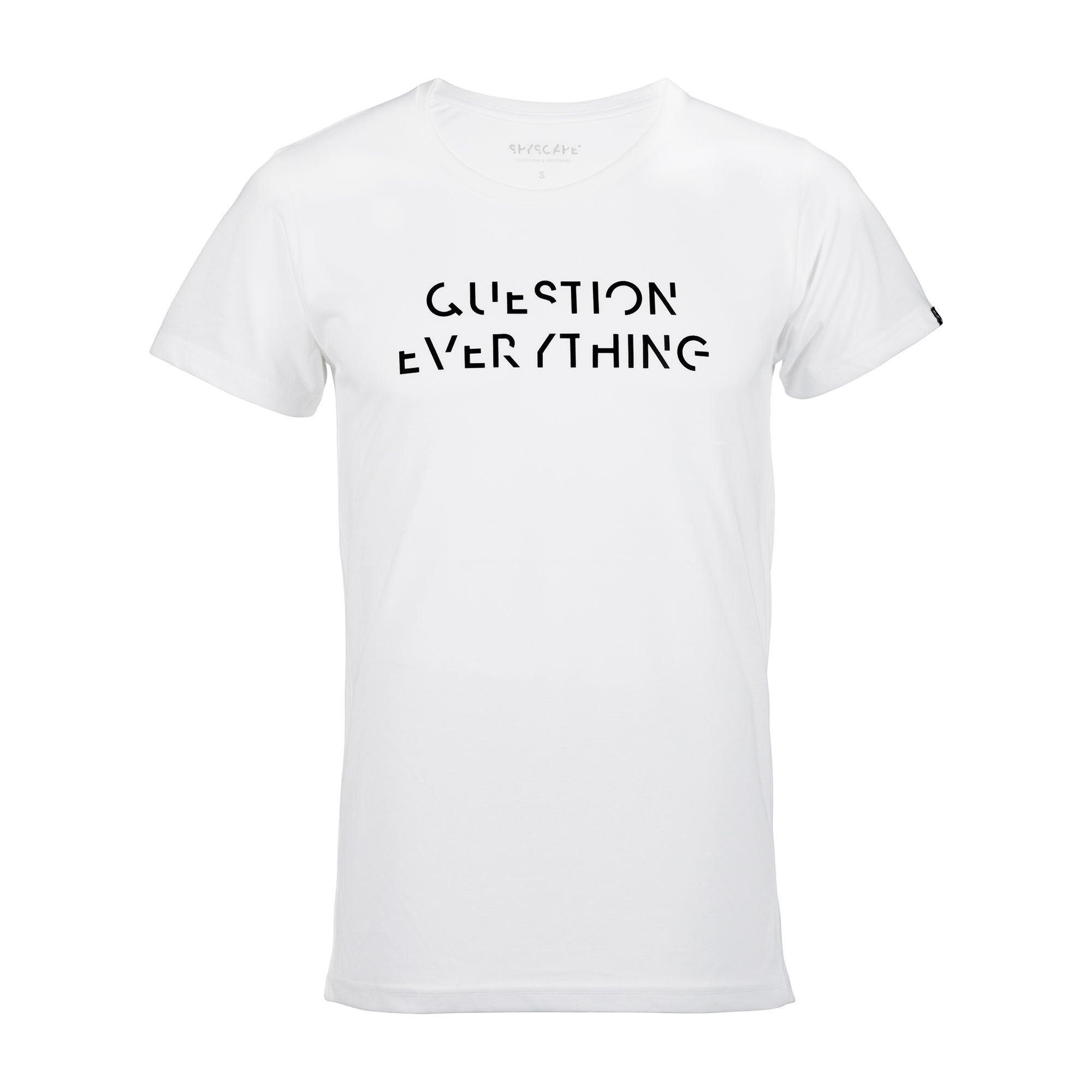 SPYSCAPE Question Everything White T-shirt