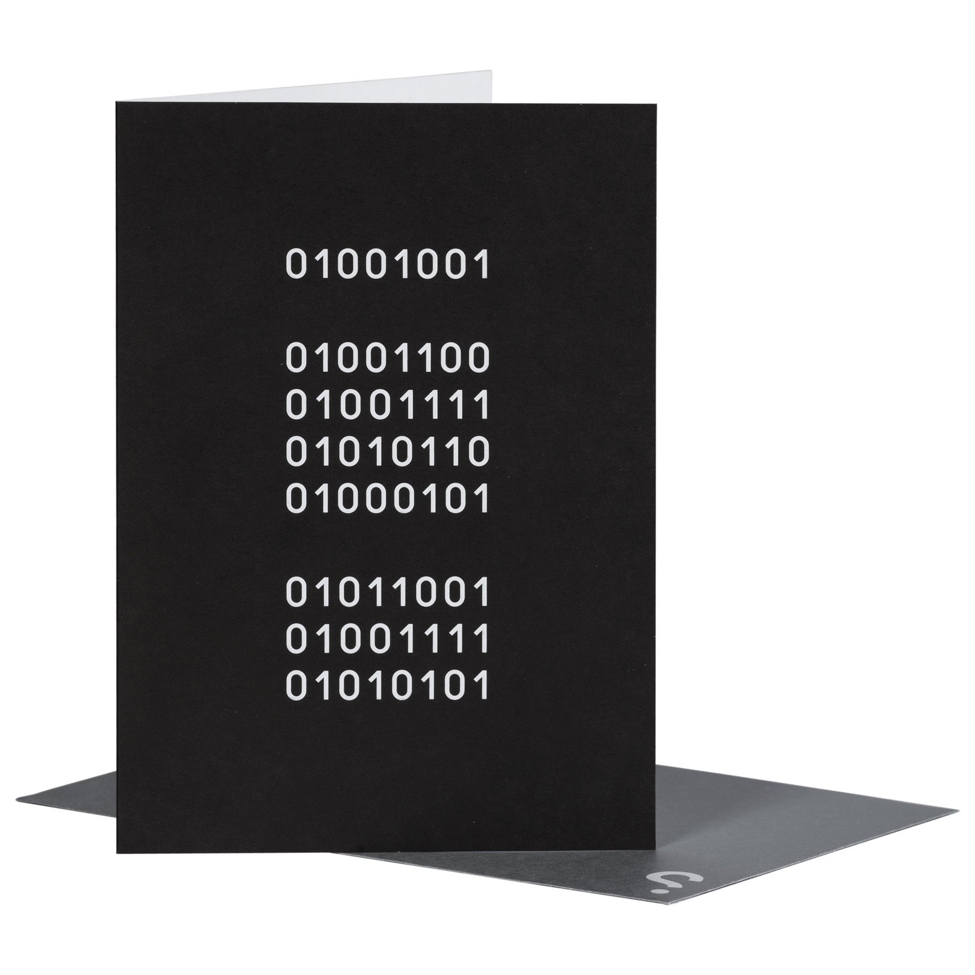 SPYSCAPE I Love You Binary Greeting Card