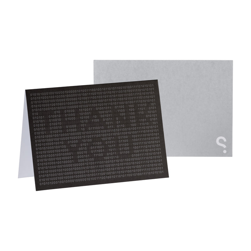 SPYSCAPE Greeting card - Thank You Binary black