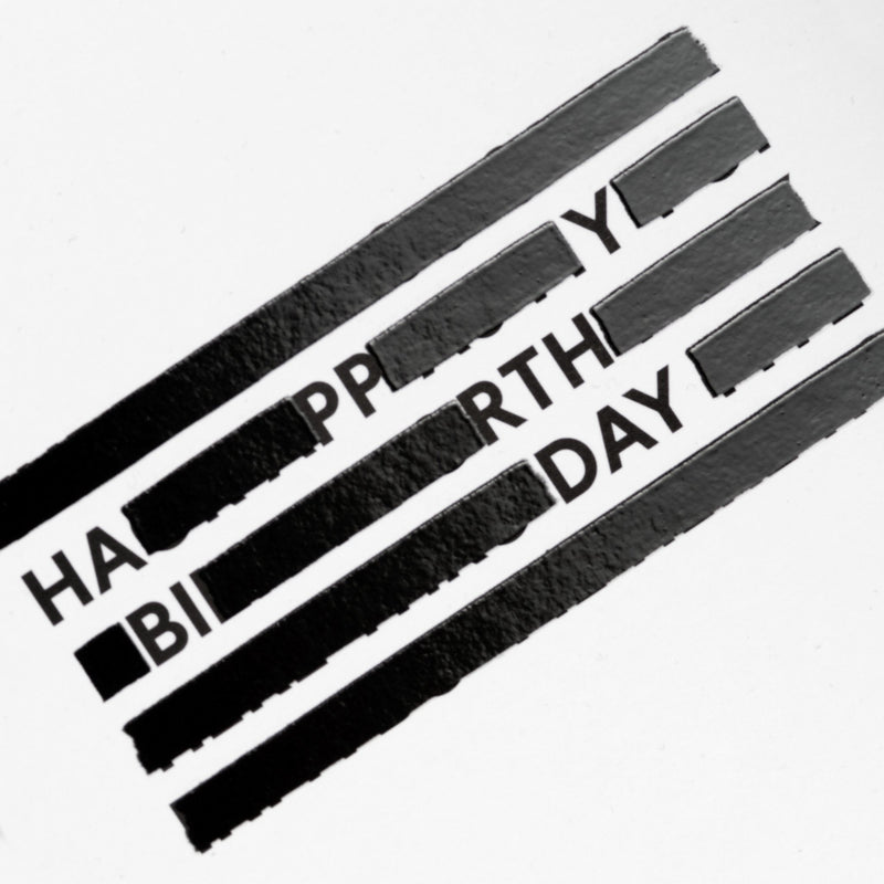 SPYSCAPE Happy Birthday Redacted Greeting Card