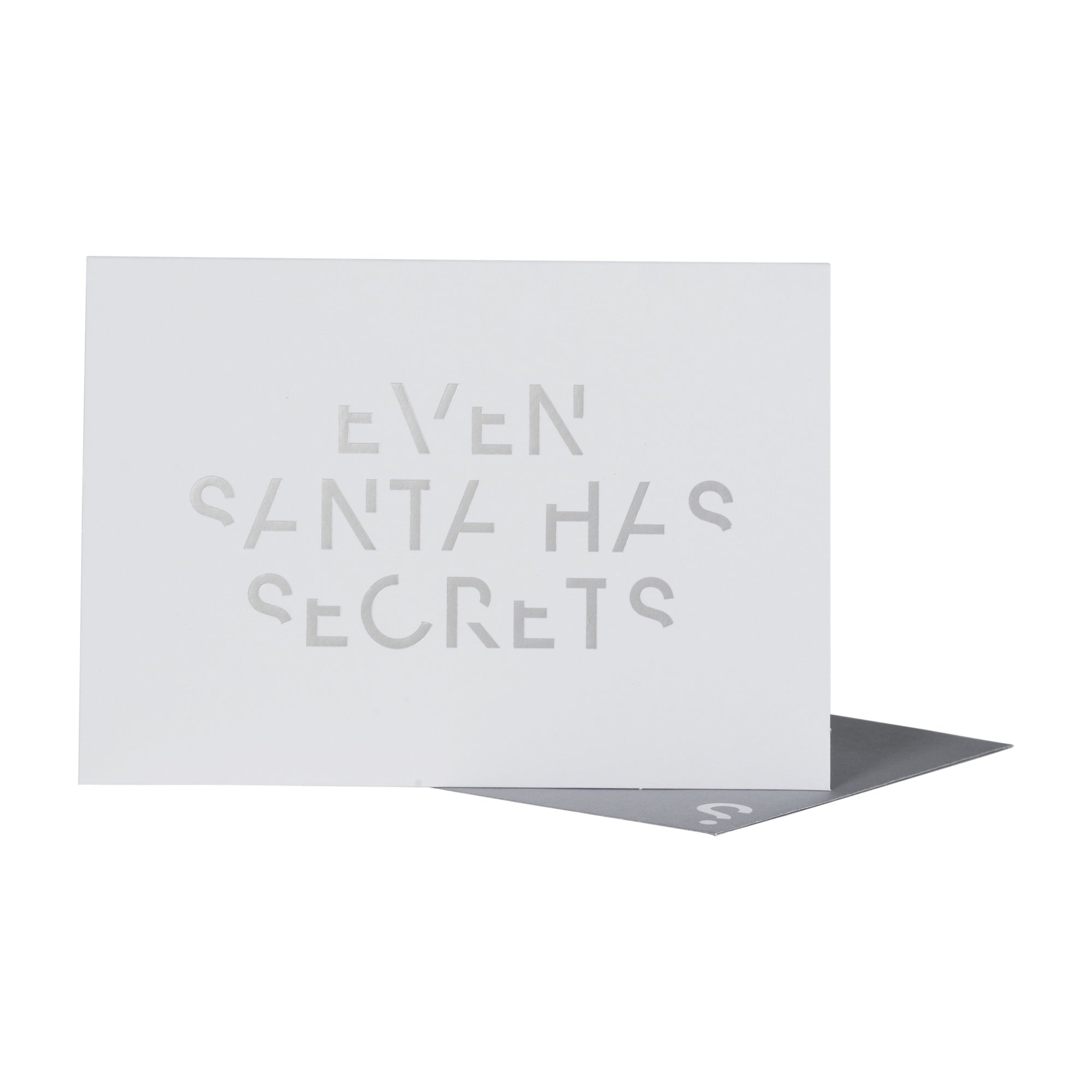 Greeting card - Santa Secrets Silver Foil