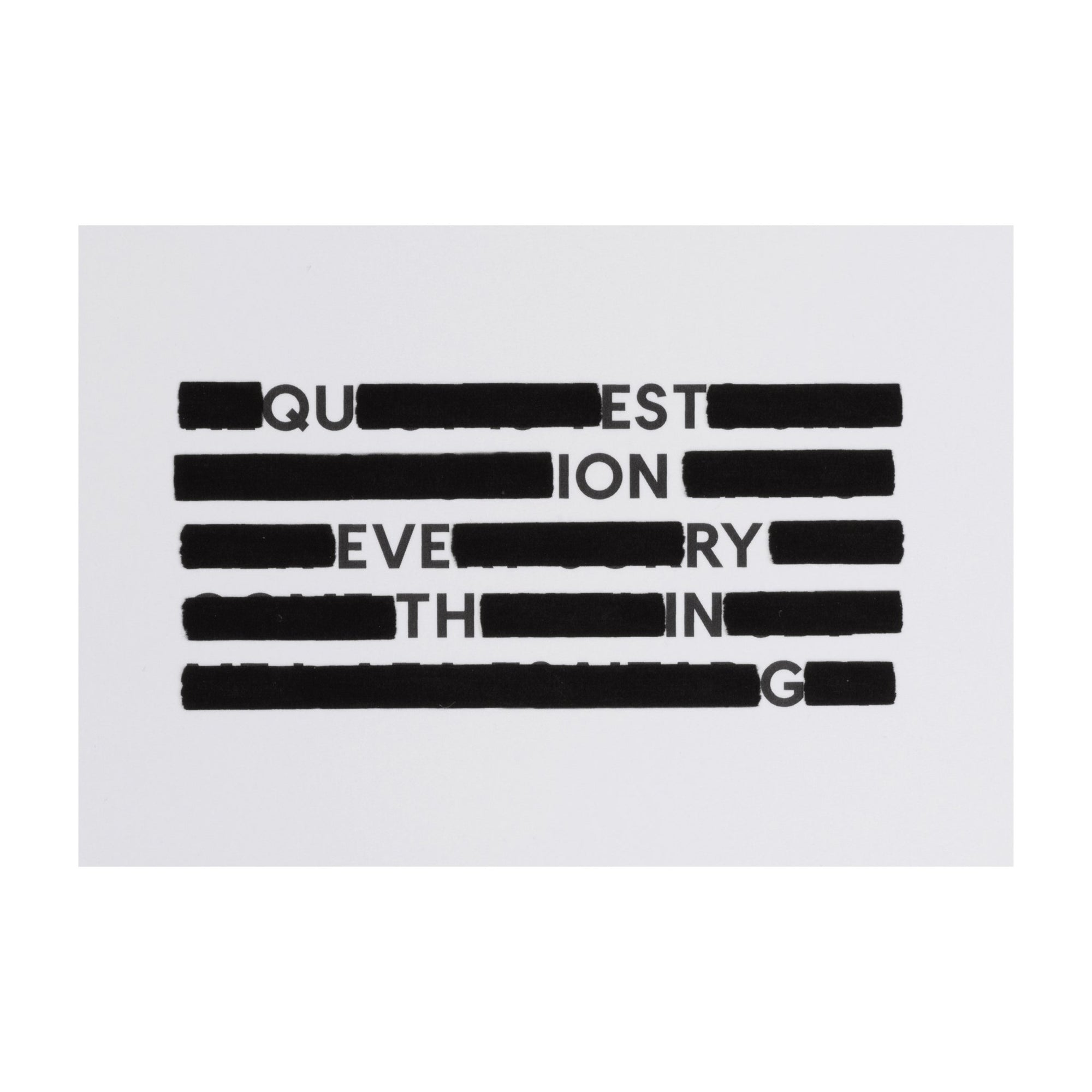 SPYSCAPE Redacted Question Everything Postcard