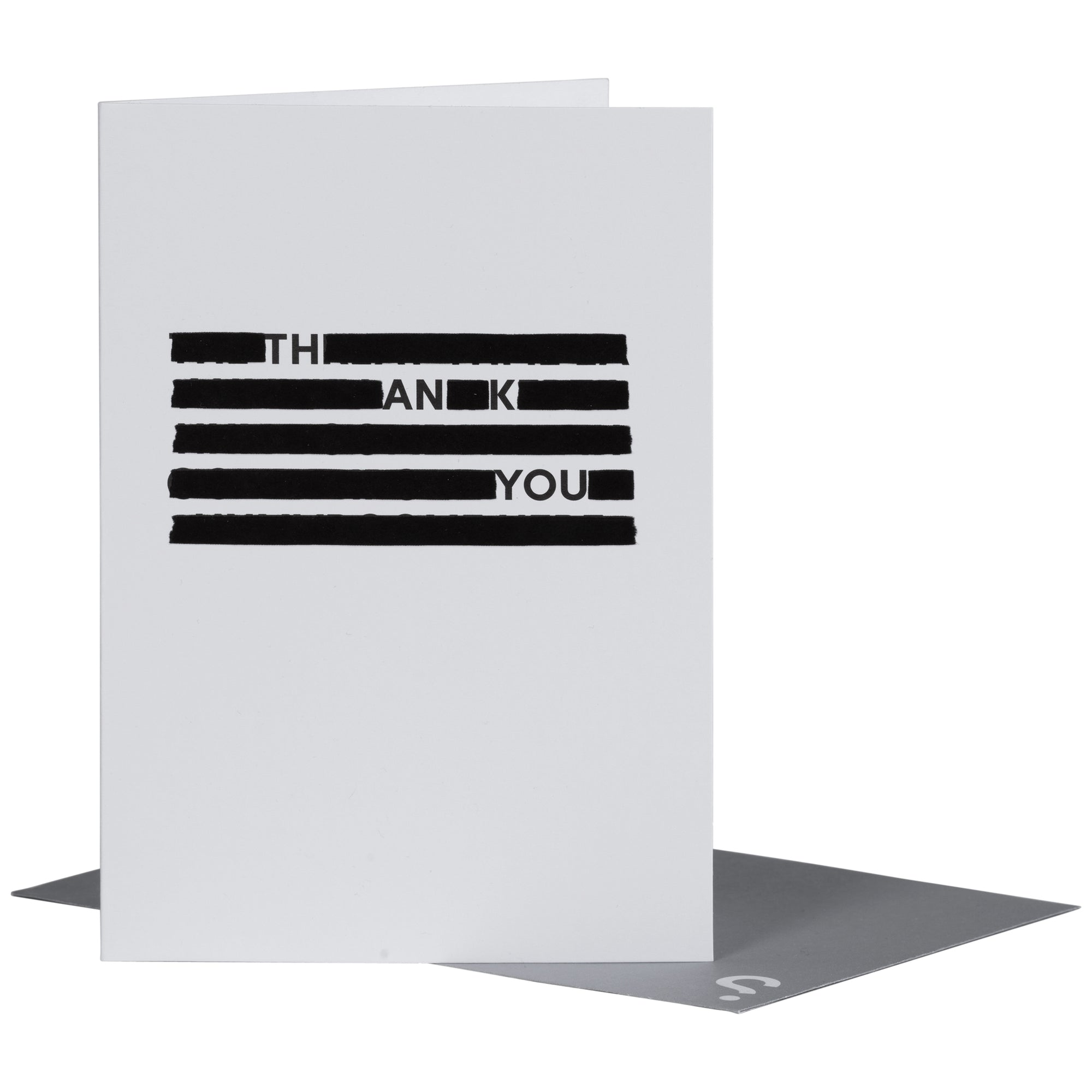 SPYSCAPE Thank You Redacted Greeting Card