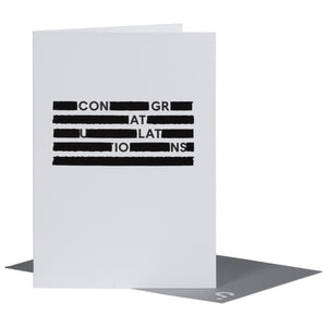 SPYSCAPE Congratulations Redacted Greeting Card