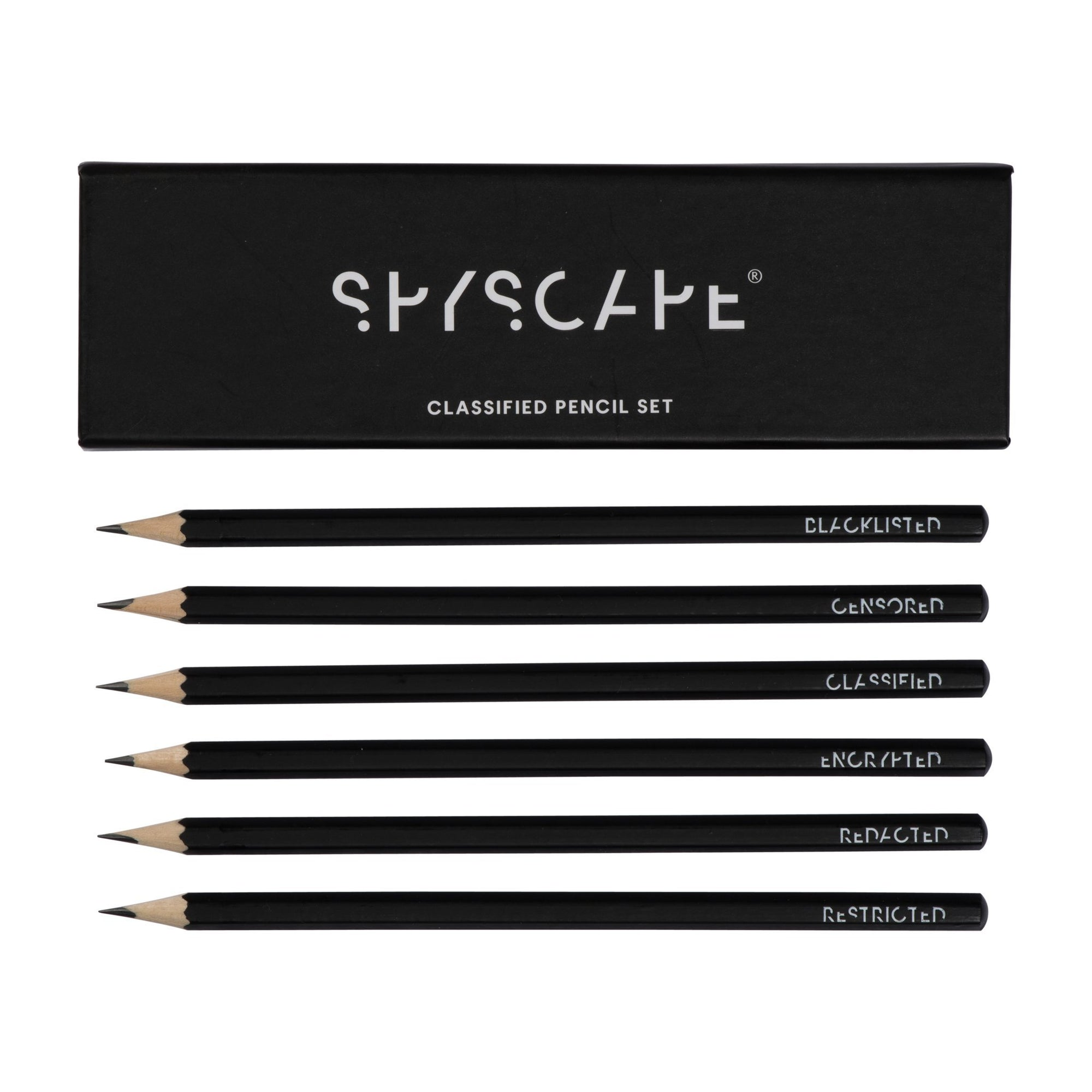 SPYSCAPE Classified Pencil Set