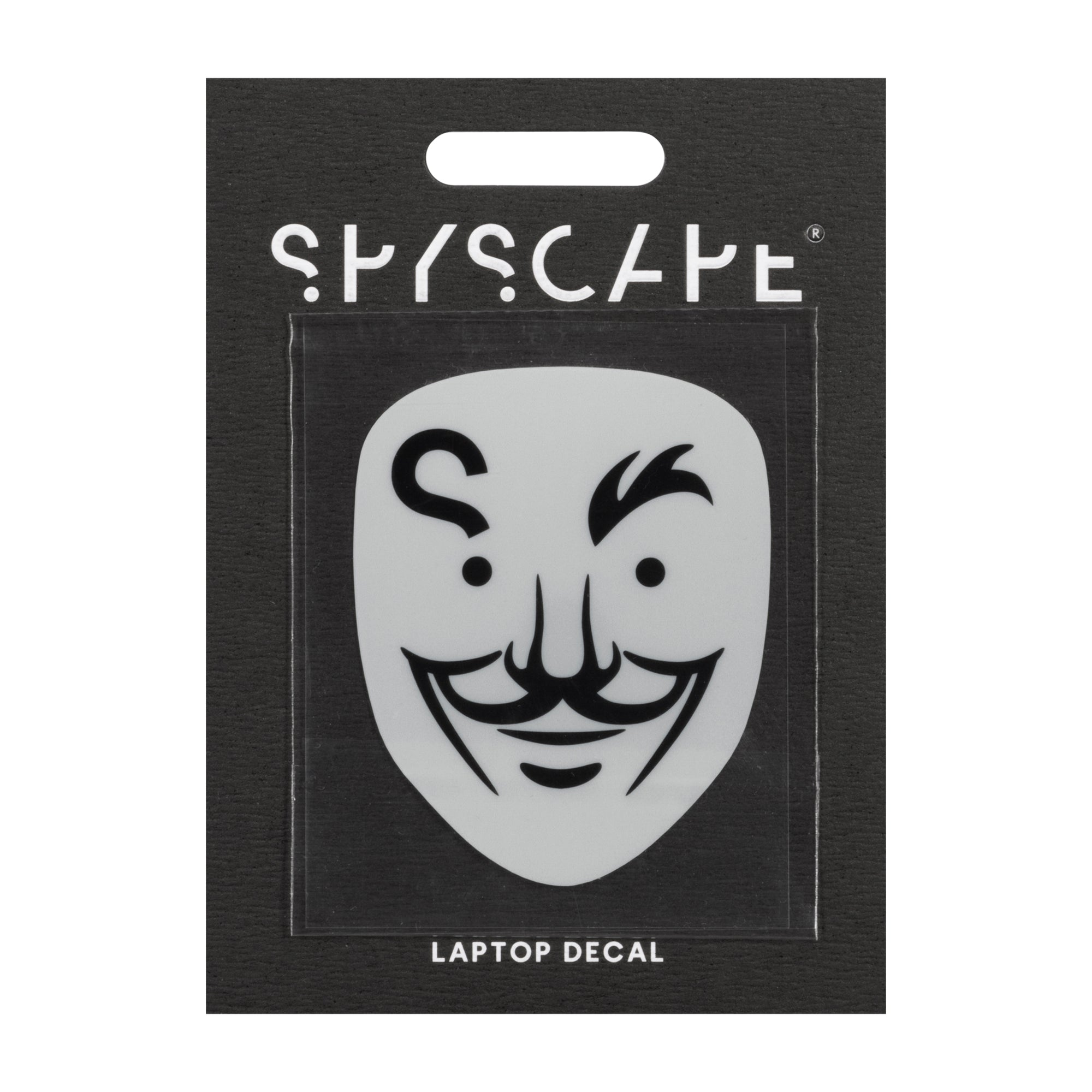 SPYSCAPE Hacker Face Large Laptop Decal