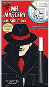 Line Up: Mr. Mystery - Invisible Ink Secret Agent Spy & Game Book