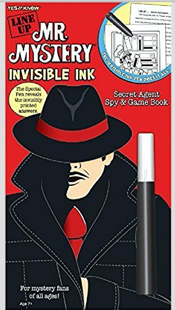 Line Up: Mr. Mystery - Invisible Ink Secret Agent Spy & Game Book -