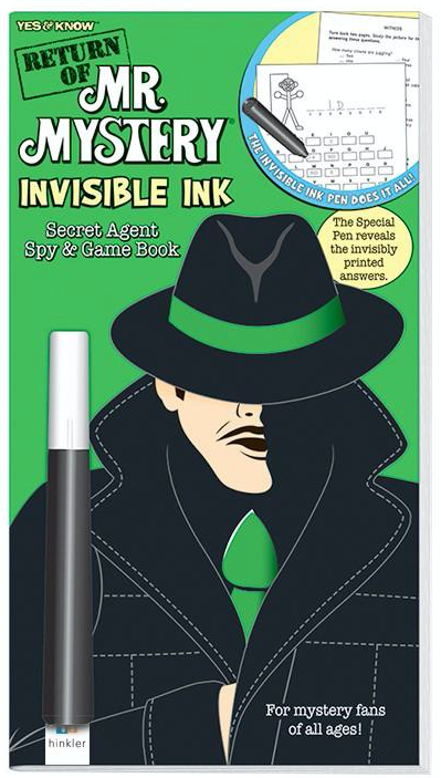Return of Mr. Mystery - Invisible Ink Secret Agent Spy & Game Book -