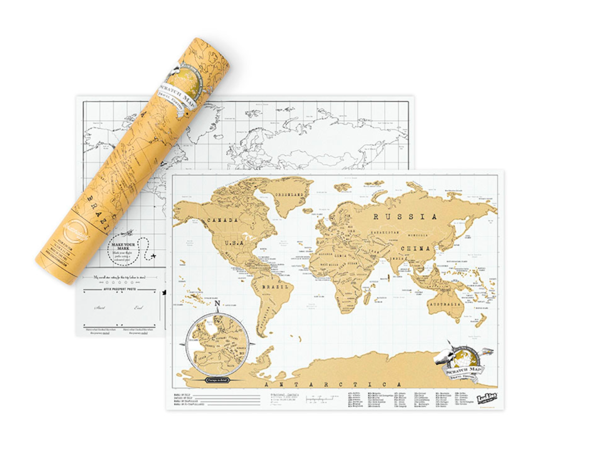World Scratch Map, Travel Edition
