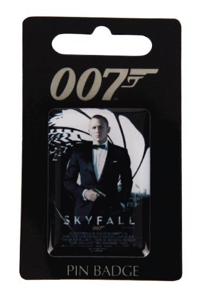 Pin Badge - Daniel Craig - Skyfall -