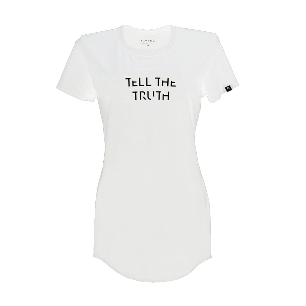 SPYSCAPE Tell the Truth Women's White T-Shirt -