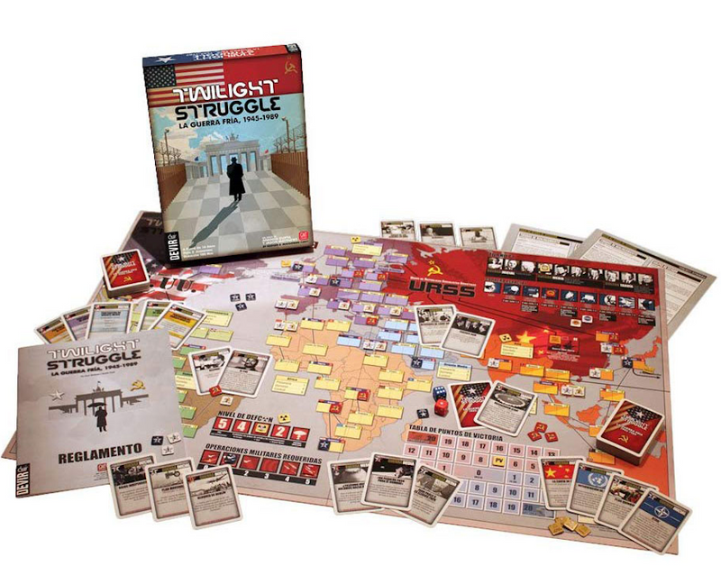 Twlight Struggle Board Game. Cover of board game box. Cold War 1945 - 1989