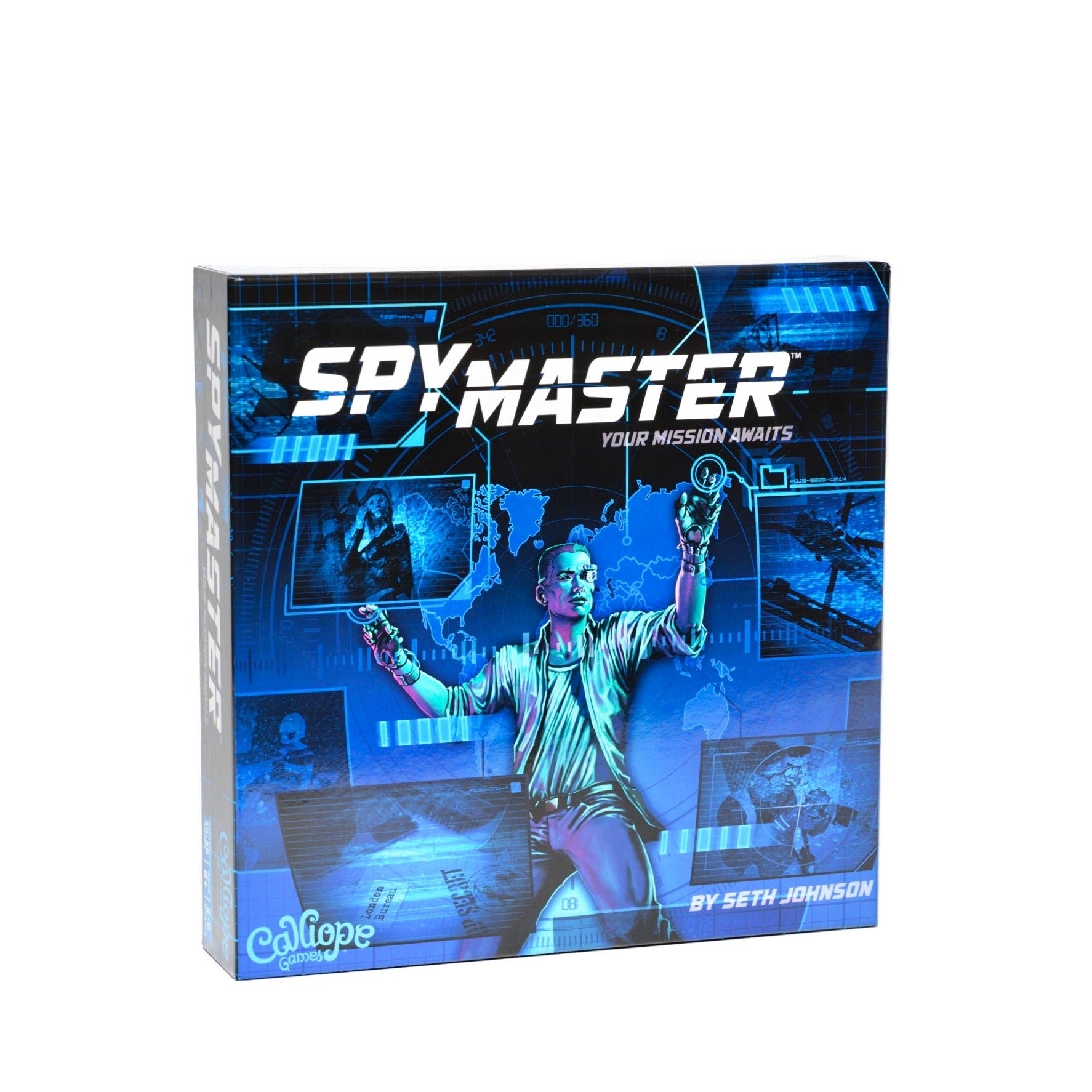 SPYMASTER - Spymaster: Your Mission Awaits board game, front of box view.