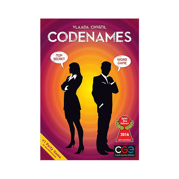 CodeNames - Front of board game Codenames box, Vlaada Chvatil, #1  party game