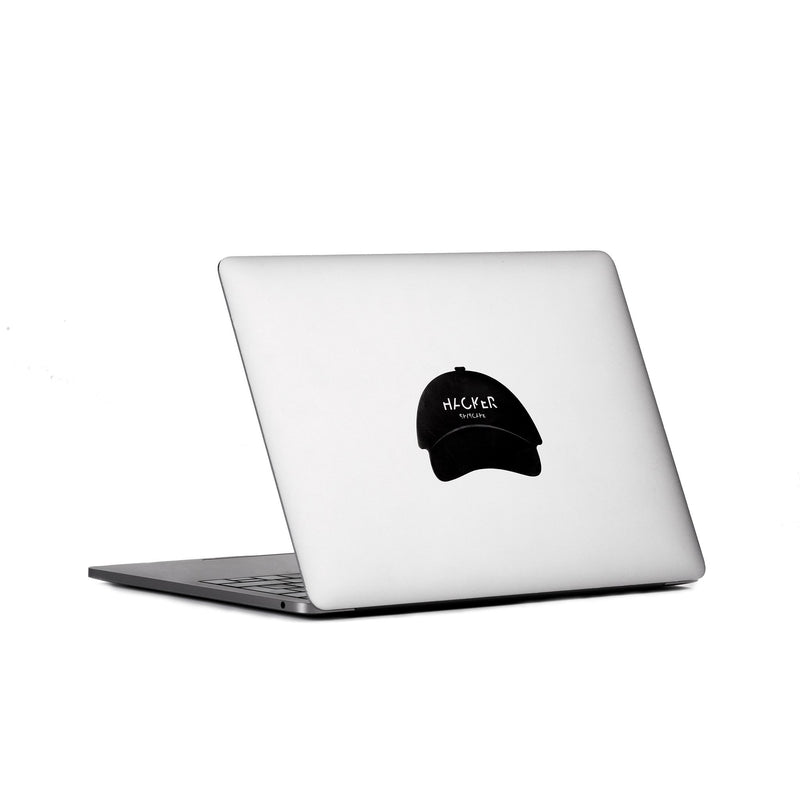 SPYSCAPE Hacker Whitehat & Blackhat Laptop Decal