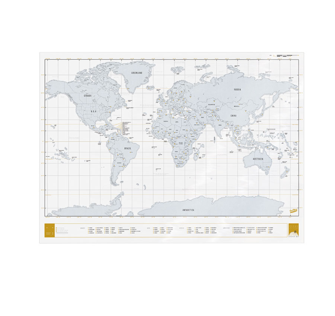 Scratch Map Clear Edition -