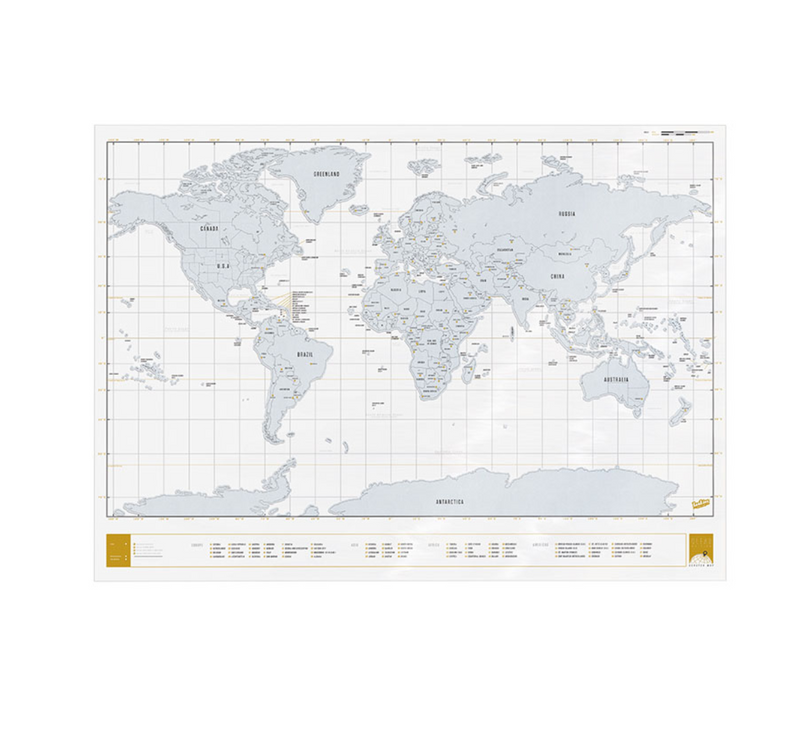 World Scratch Map, Clear Edition