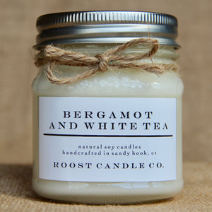 Bergamot and White Tea <br> Mason Jar Candle