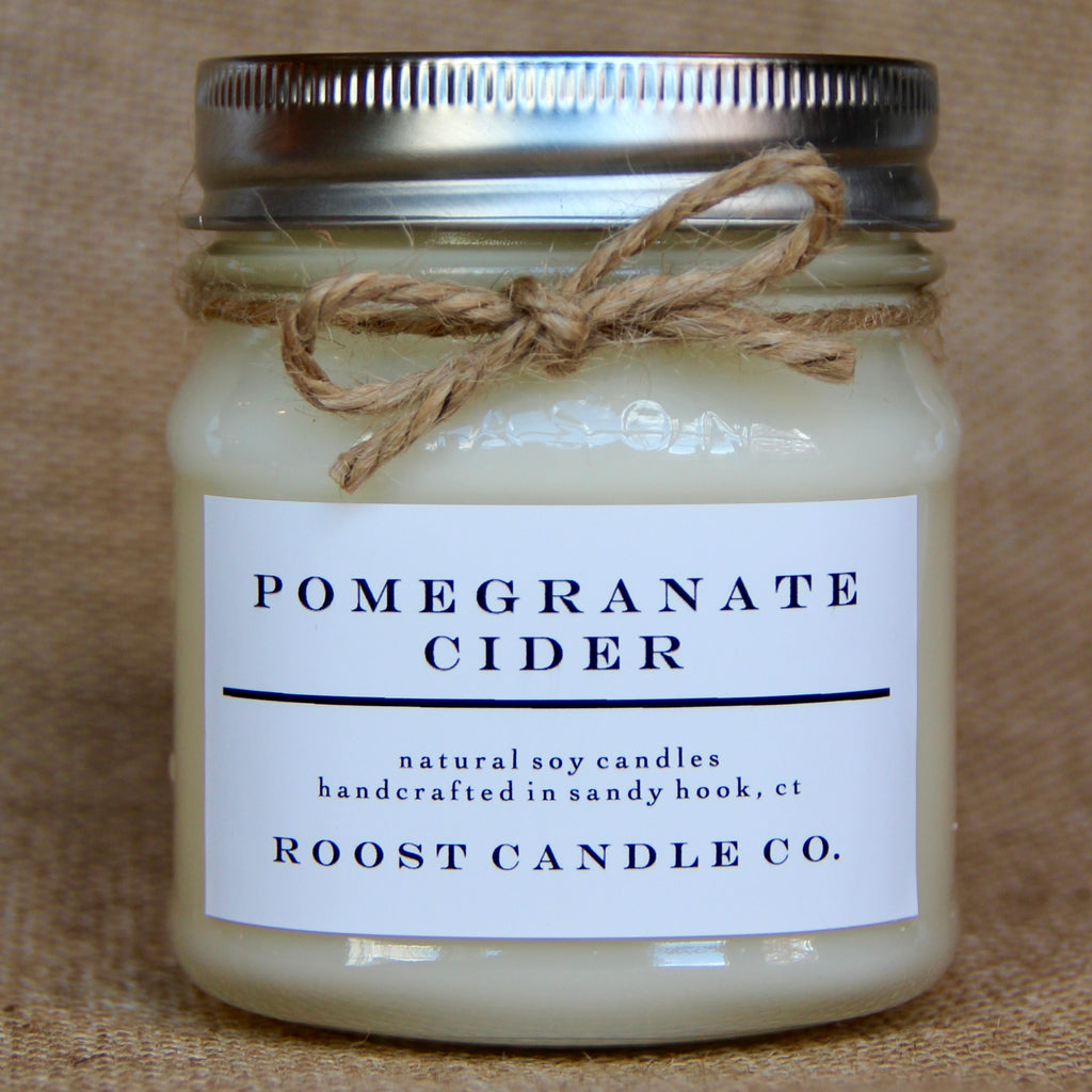 Pomegranate Cider <br> Mason Jar Candle