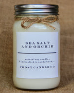 Sea Salt and Orchid <br> Mason Jar Candle
